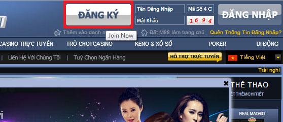 Huong dan dang ky M88 nhanh chong va cuc don gian 1