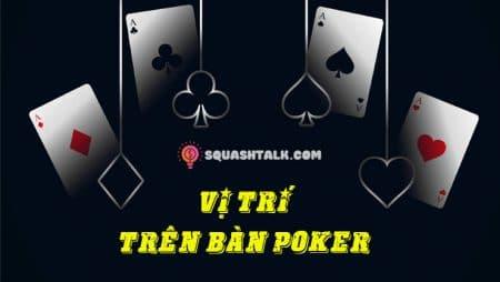 Khám phá vị trí trên bàn Poker và tầm quan trọng của vị trí này
